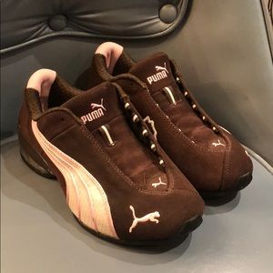 Puma pink & brown sneakers size 6.5 or 37